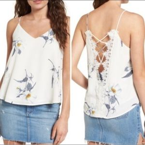Astro The Label Floral Lace Back Tank